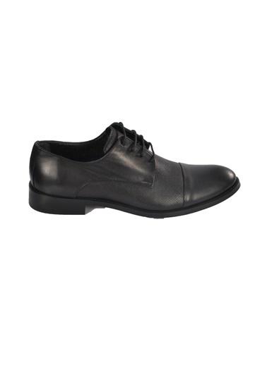 Castle Black 6463-2 Siyah Erkek Hakiki Deri Klasik Ayakkabı Siyah